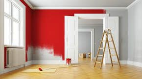 Red wall - What kind of paint?